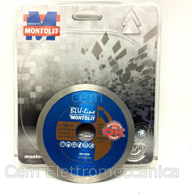 Disco de Diamante MONTOLIT Azul Línea Ø 115MM CSE115 Para Gres Y Cerámica Dura