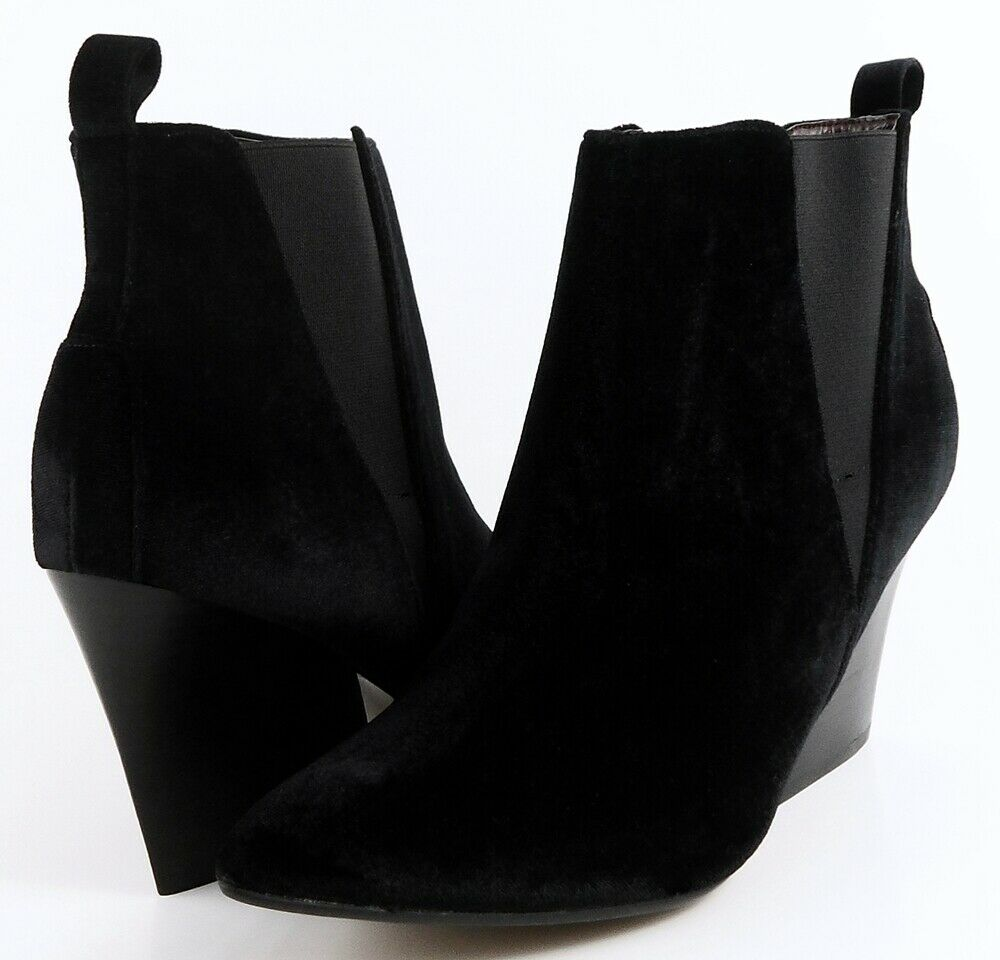 REPORT SIGNATURE MYRNA Black Fabric Designer Boots Ankle Boots 8.0 M
