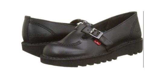 Kickers Kick Lo T W Core Black Mary Jane Girls School Shoes Black Orig KF0000128