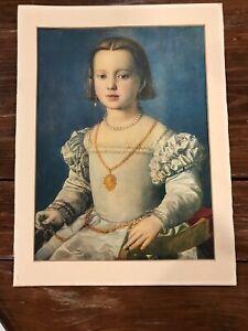 ANTIQUE BIA DE MEDICI OLD PRINT 16X12 Italian Art Institute Print