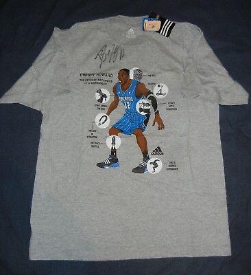 1a7fece25c662 DWIGHT HOWARD Adidas ORLANDO MAGIC Grey T Shirt SIGNED Medium ...