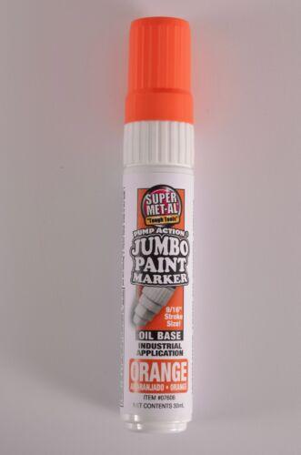 Super Met-Al Pump Action Oil-Based Jumbo Marker 07600 White Various Colors