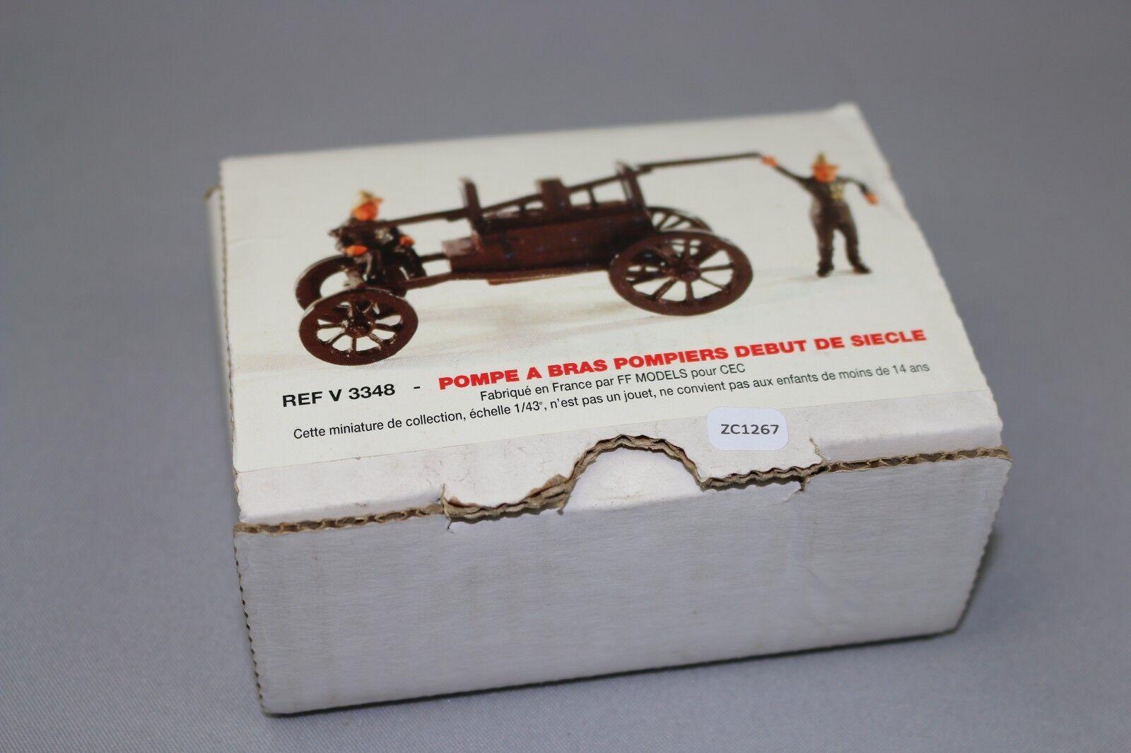ZC1267 FF Models V3348 Figurines miniature pompiers 1 43 Pompe à bras 1900
