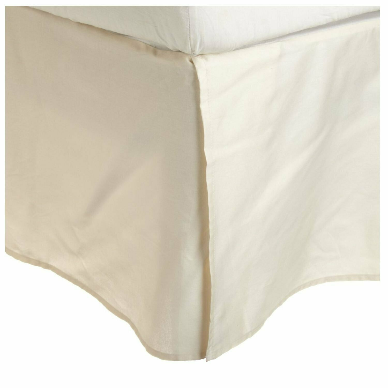 1Qty Bed Skirt All Size US 100% Pima Cotton-1000 Thread - Ivory Solid