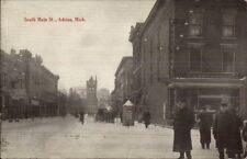 Adrian MI South Main St. c1910 Postcard AUBURN POSTCARD ADVERTISING ON BACK