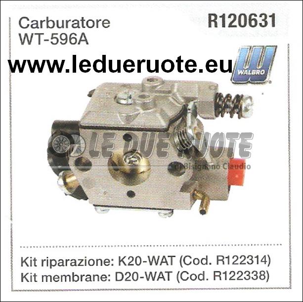 R120631 CARBURATORE A MEMBRANA WALBRO WT - 596A