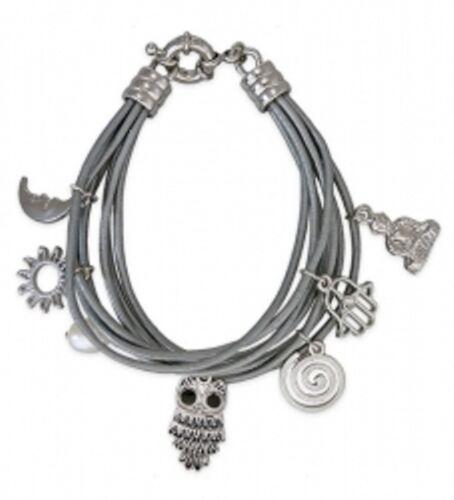 Farbwahl Leder-Armband 7-reihig Beads