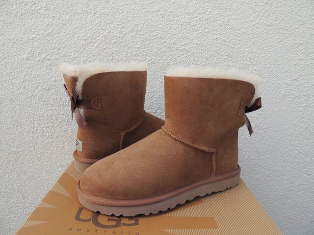 018904e3e51 UGG Australia Womens Mini Bailey Bow BOOTS 1005062 Chestnut 9