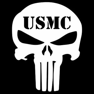 Image is loading 2-USMC-Punisher-Skull-Decal-Vinyl-Sticker-Marine-