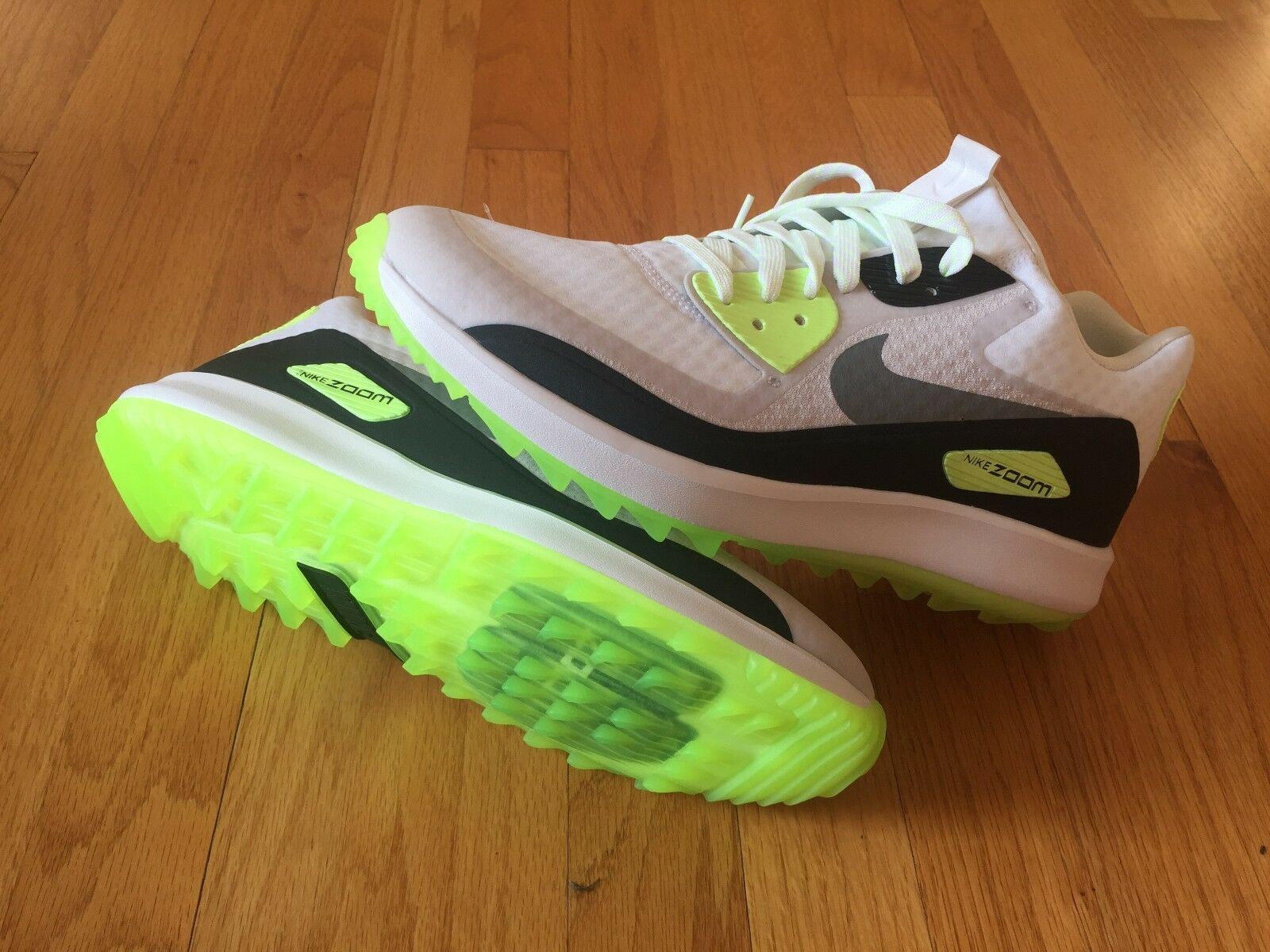 Nike Air Zoom 90 IT Golf Shoes White Volt 844569-102 Men's Spikeless SZ 7-12