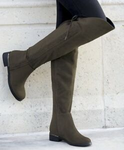 11d145abf2dd Image is loading Anita-Over-The-Knee-Boot-By-Beacon-Olive-