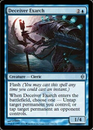 MTG magic cards 1x x1 NM-Mint, English Deceiver Exarch New Phyrexia