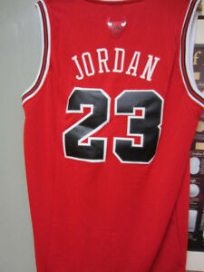 buy online 324a5 a359b Details about Nike NBA MICHAEL JORDAN CHICAGO BULLS #23 BASKETBALL JERSEY  Size L Made in Korea