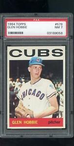 1964-Topps-578-Glen-Hobbie-Chicago-Cubs-MLB-NM-PSA-7-Graded-Baseball-Card