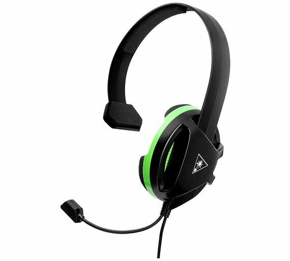 Turtle Beach Recon Chat Wired Headset Single side for Xbox One Black/Green