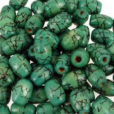 Jade Green Crackle 100pcs Wooden beads 8x12mm  Rice Shaped beads Mix W190