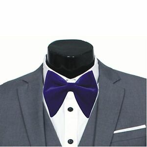 Mens big bow tie Mens FERUCCI Oversized Bow Tie Purple Velvet Bowtie