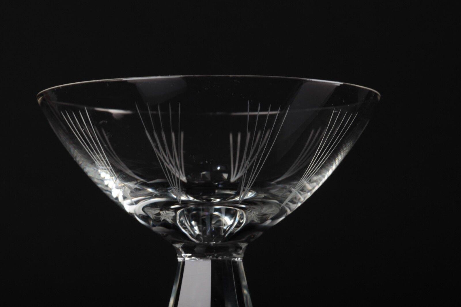 2 Sektschalen Sektgläser Friedrich Kristall Glas Vintage 60er 60s Linien Linien Linien Garvur 3c0668