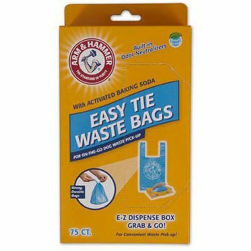 Arm /& Hammer 71041 Easy-Tie Waste Bags Blue 75-Pack