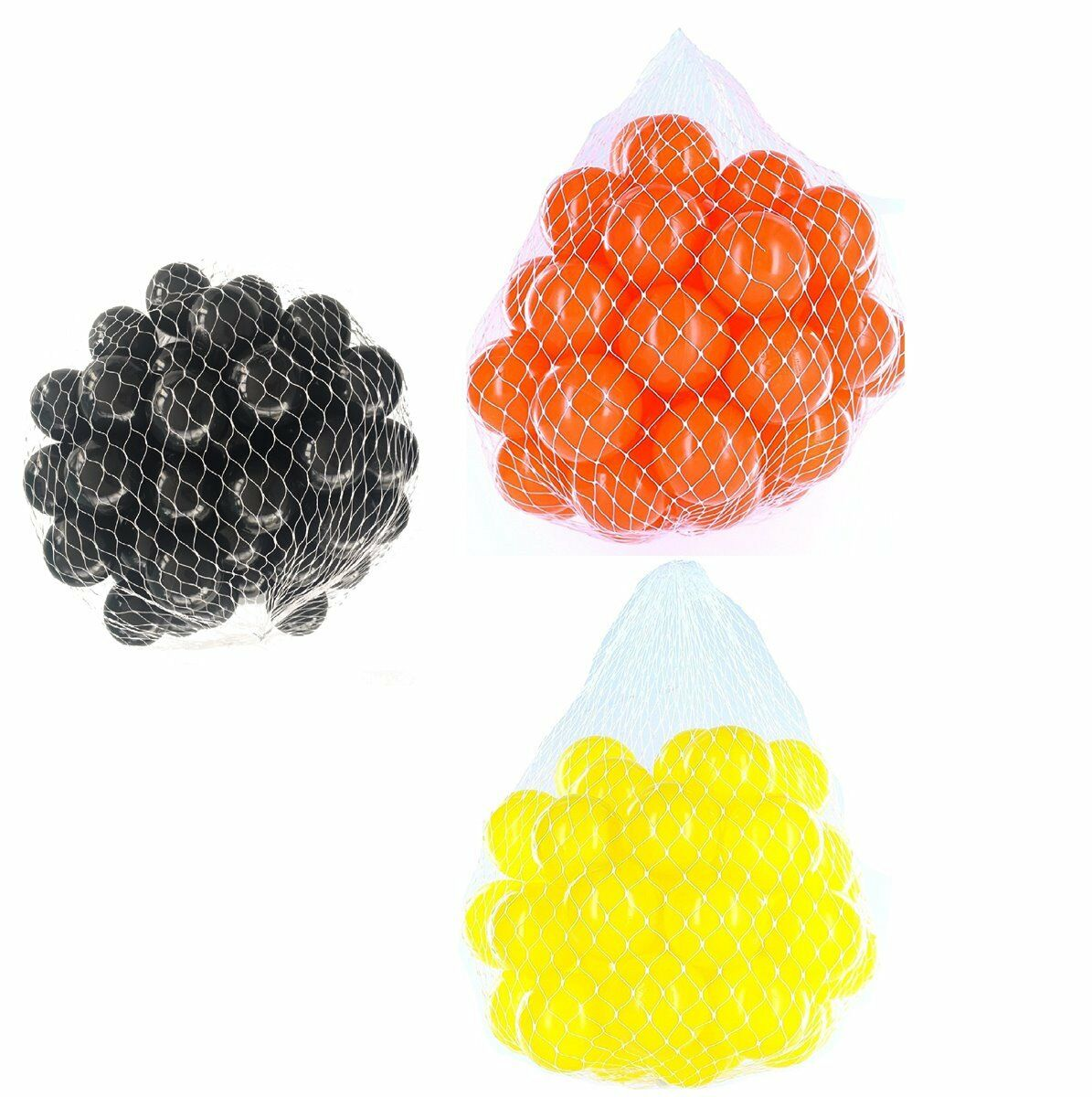 150-9000 Pelotas baño 55mm MIX yellow orange black Mixto colors BABY NIÑO