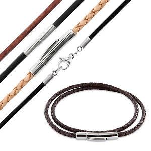 Lederband Leder-kette Halsband Halskette Farbe Modell Länge Wählbar