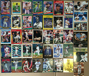 BARRY-BONDS-LOT-of-54-insert-parallel-base-NM-cards-1988-1999-every-year-giants