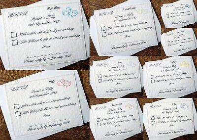 Fashion Style Matrimonio Personalizzati Rsvp Biglietti E Buste * 10 Colori *- Materiali Accuratamente Selezionati