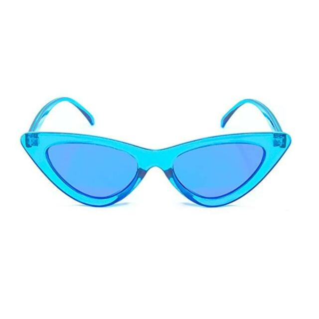 GloFX Cat Eye Color Therapy Glasses - Blue - Chakra Mood Enhancing Colored Lens