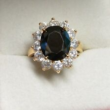 Dolly-Bijoux Grosse Bague T58 Marquise Onyx Cz 20mm Plaqué Or 18K 5Microns