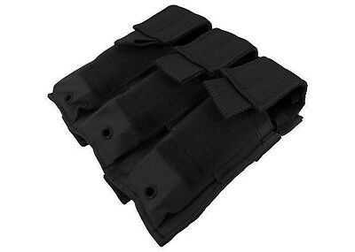 NcSTAR BLACK Triple MOLLE PALS Pistol Mag Magazine Pouch Holster M9 1911 9mm 45