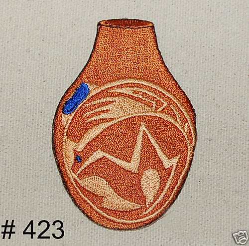 1PC~POTTERY~IRON ON EMBROIDERED APPLIQUE PATCH