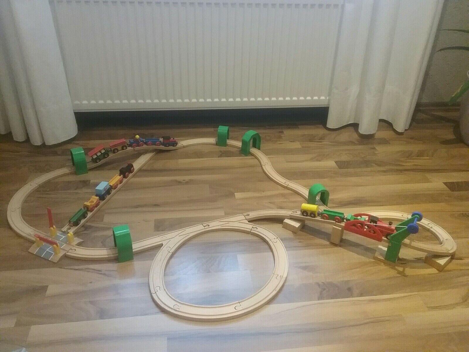 36  Spielzeug Holz Eisenbahn ⭐️63TLG. SET⭐️