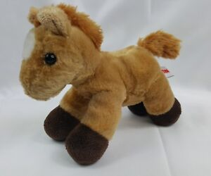Aurora-TAN-HORSE-PONY-Plush-STUFFED-ANIMAL-VERY-SOFT-8-034-EUC