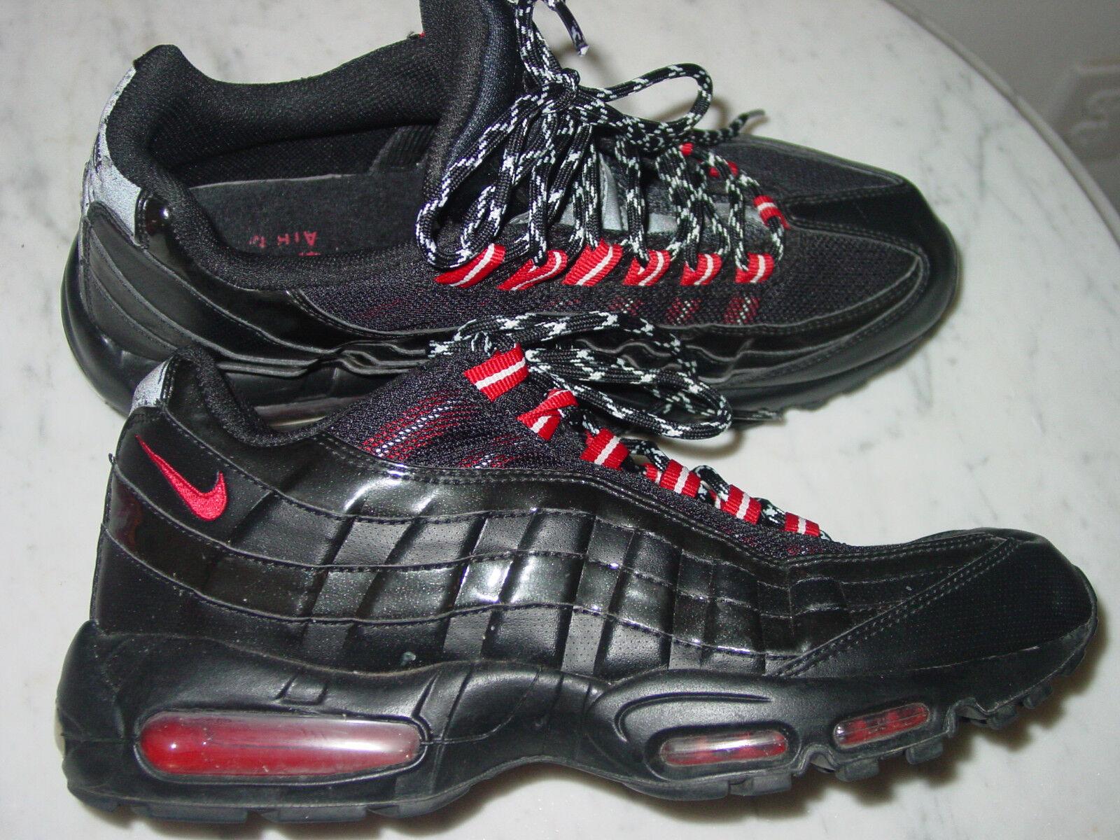 2010 rote bei nike air max 95 schwarz / uni rote 2010 lackleder laufschuhe größe 11. ee4652