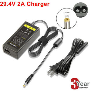 Replacement Charger For Swagtron Swagger Electric E-Scooter 29.4V Output 2A Fast