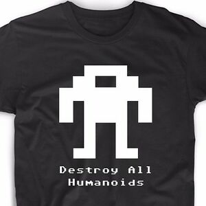 Berzerk Robot T Shirt Retro Video Game Arcade Gamer Geek Nerd Tee ...
