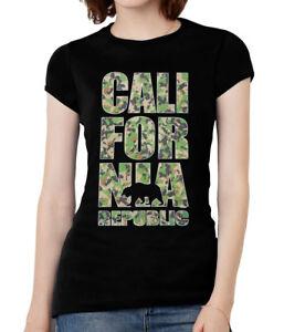 Womens-California-Republic-Camo-Short-Sleeve-T-Shirt