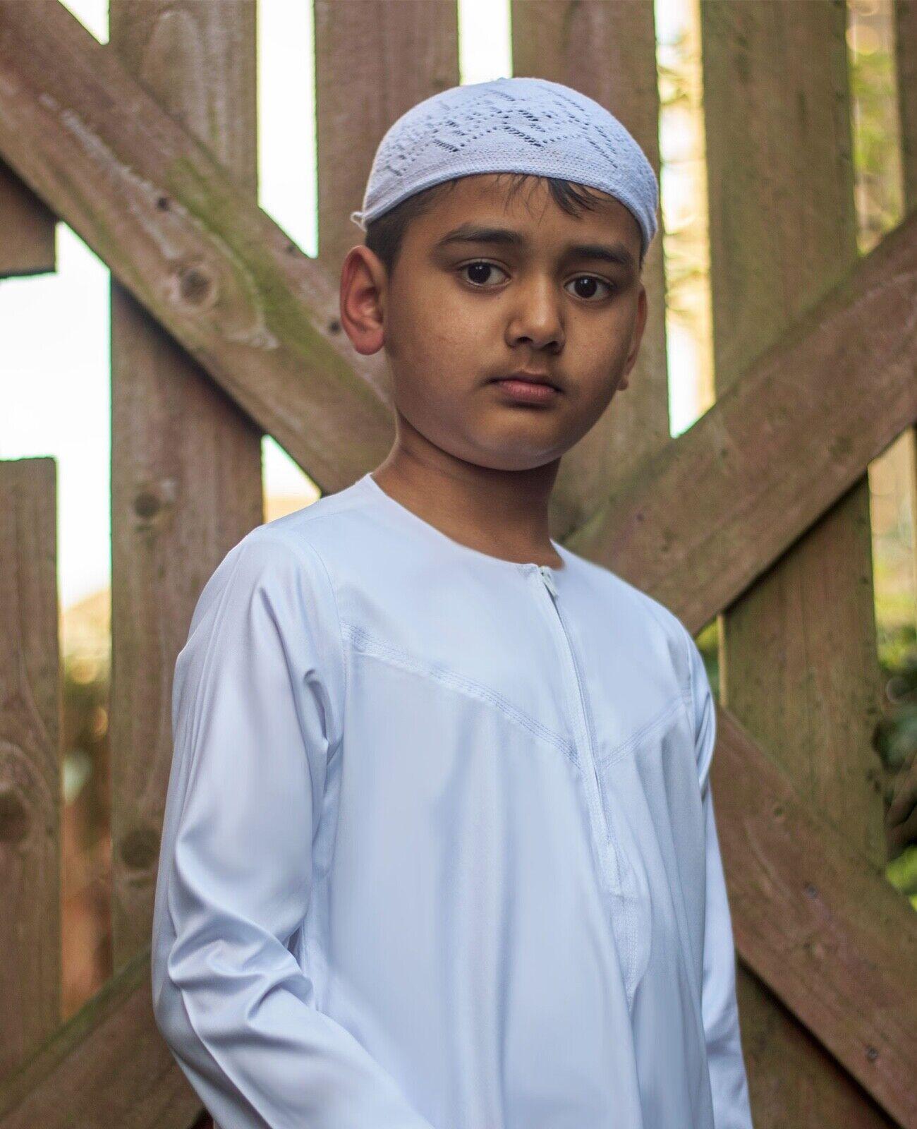 Boys Childrens Thobe Thawb For Madrasa, Eid, Islamic Clothing - Length 34 to 50