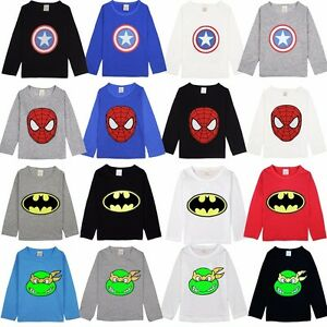 The-Avengers-Kids-Boys-T-Shirt-Summer-Long-Sleeve-Tee-Shirt-Children-Size-2T-7