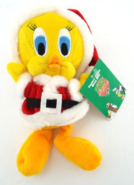 NWT TWEETY BIRD SANTA Claus Warner Bros. Bean Bag Plush