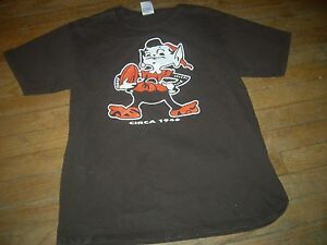 153019e1 Details about Cleveland Browns 1946 SUPER-SIZED-ELF Brown T-Shirt,ANVIL  QUALITY,GR8 CHEAP GIFT