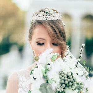 Bridal-Princess-Crystal-Tiara-Wedding-Crown-Veil-Hair-Accessory-with-Comb