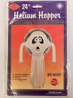 Beistle 24in Helium Hopper Boo Deloon Ghost Halloween Helium Balloon Dancer
