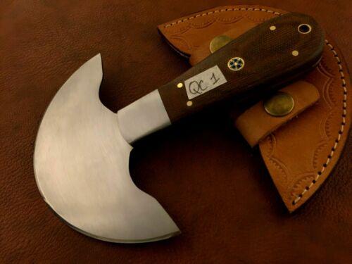 Hecho a mano de acero de alto carbono cortador de cuero de Media Luna-raspa herramienta-Herrero-QC1