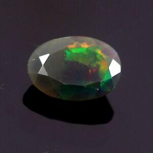 Black Ethiopian Opal Natural Gemstone 3.60 ct Oval Shape Ethiopian Opal Ring Size Multi fire Opal Gemstone 13x9x6 mm