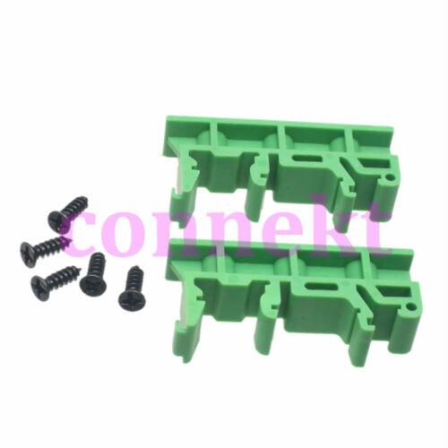 35mm DIN Rail Mounting Support Adapters plastic Feet for LxW≤100mm PCB or relay
