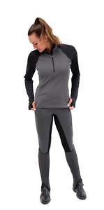 Kerrits Daily Ride Half Zip  Shirt-L-Charcoal  lightning delivery