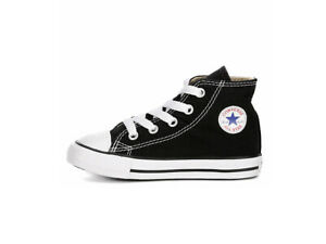 Details about Converse All Star Shoes Hi Black White Canvas Sneakers Baby Boy size 6 7J231