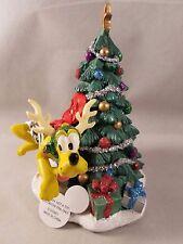Disney Parks Pluto Reindeer Holiday Christmas Tree Santa MK Figurine Statue