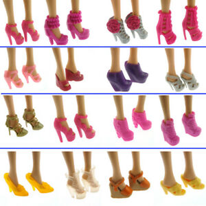 10-Pairs-Party-Daily-Wear-Dress-Outfits-Clothes-Shoes-For-Barbie-Doll-GiftNew-AU